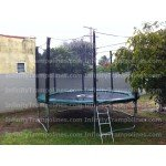 12 Foot Infinity Bounce Trampoline Heavy Duty Combo